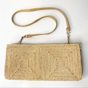 Vintage | Convertible Straw Shoulder Bag  / Clutch